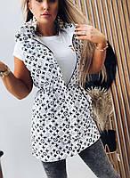 Трендова подовжена жилетка жіноча з принтами (Норма і батал), фото 9