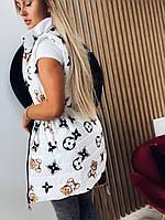 Трендова подовжена жилетка жіноча з принтами (Норма і батал), фото 10