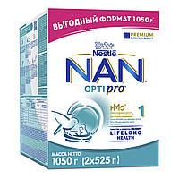 Молочна суміш NAN Optipro 1, 0+, 1050г