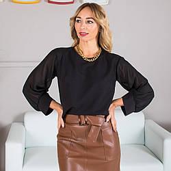 Блуза женская Сана с шифоновыми рукавами Сати