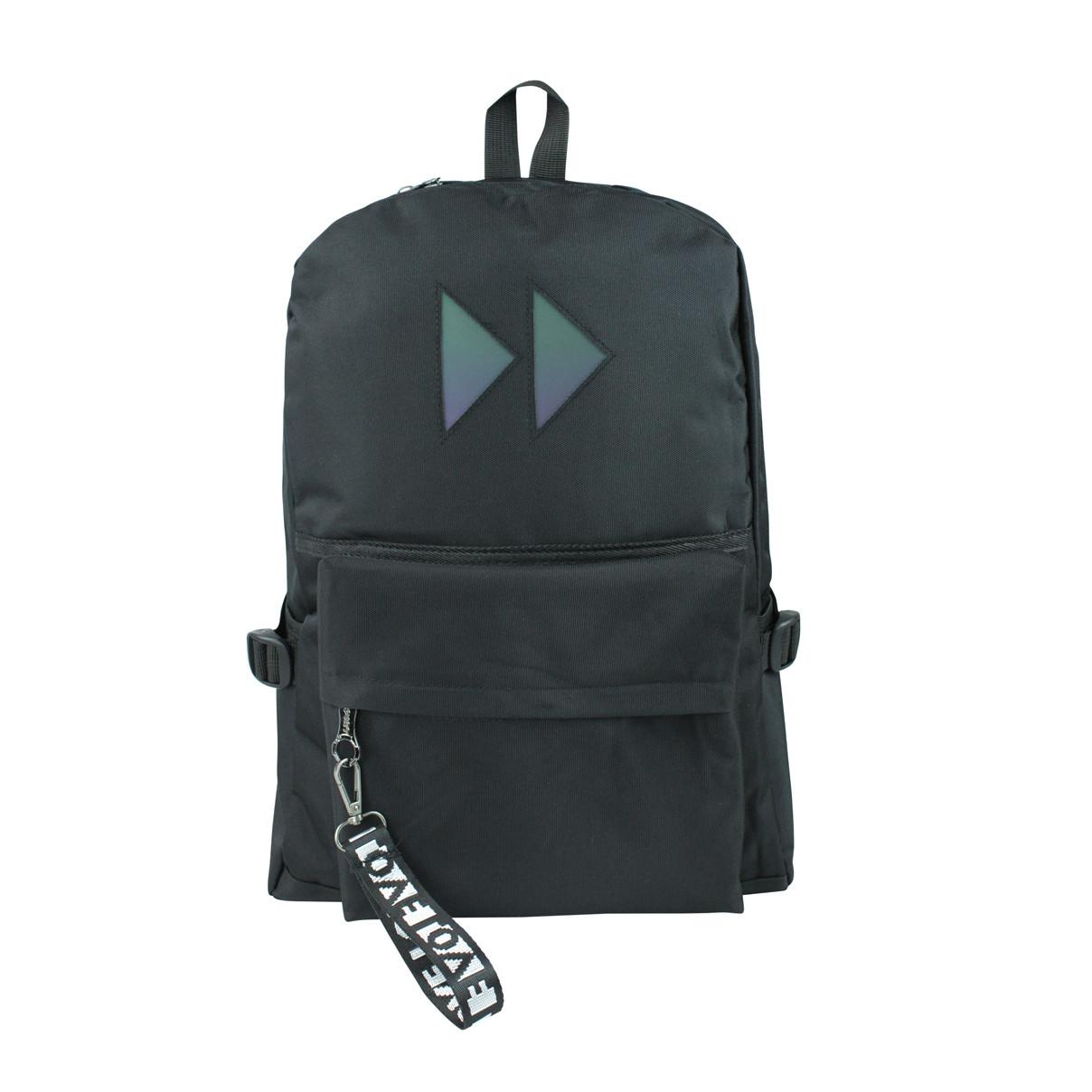 Рюкзак городской чёрный с вставкой rewind