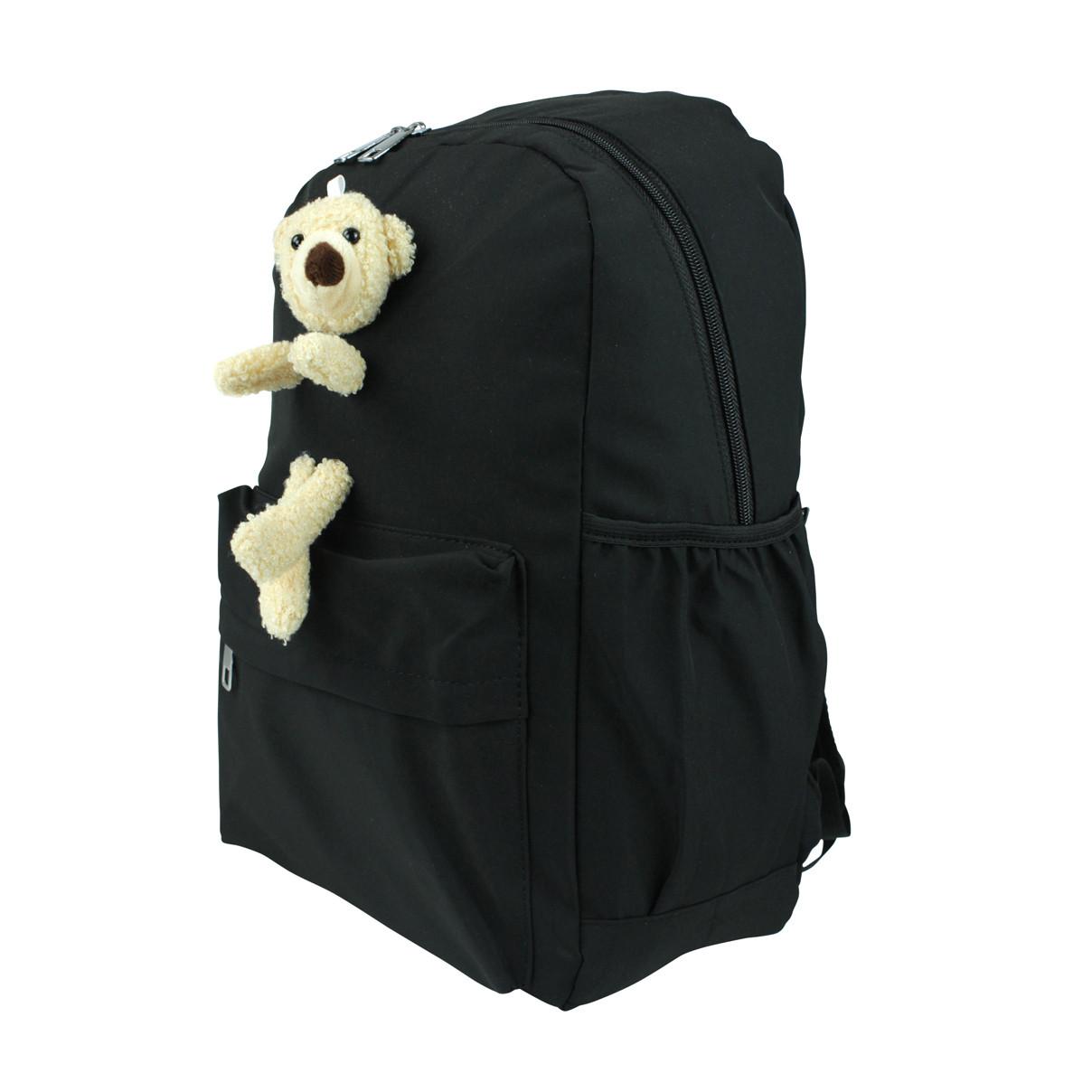Рюкзак жіночий міський Ведмедик чорний