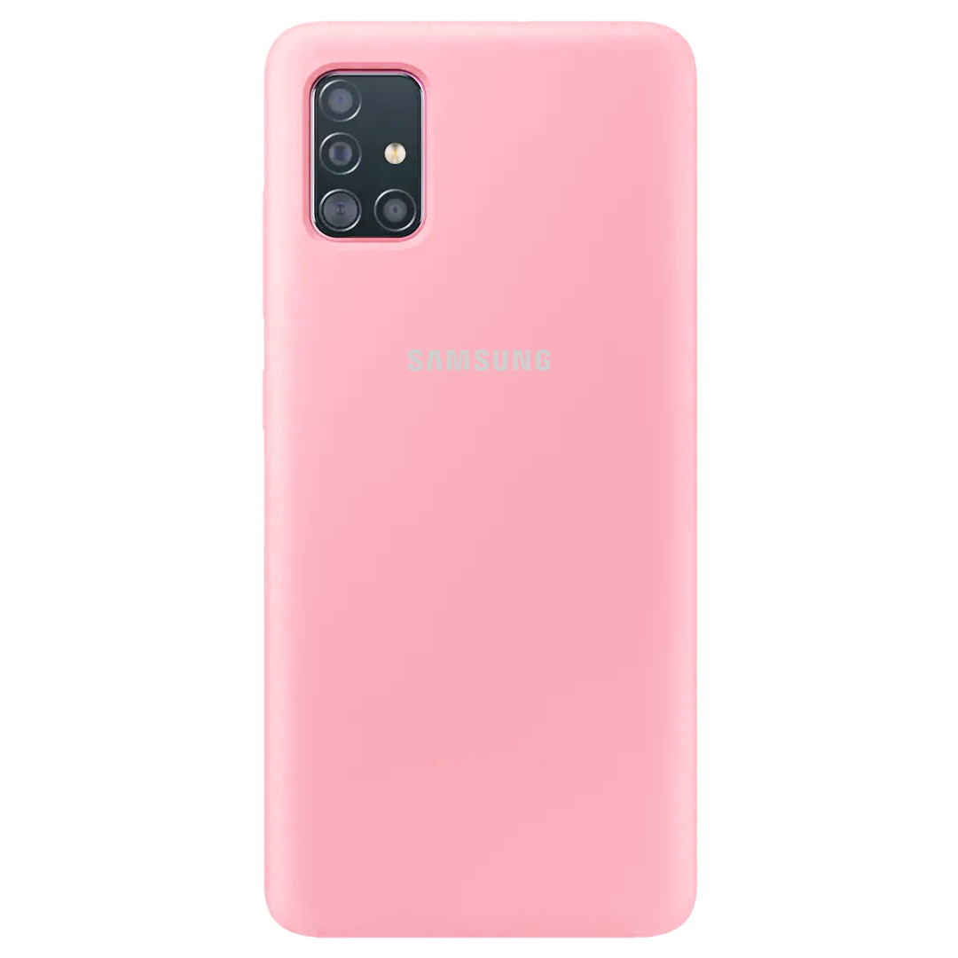 Чехол Silicone Cover Full Protective (AA) для Samsung Galaxy A51, Розовый / pink