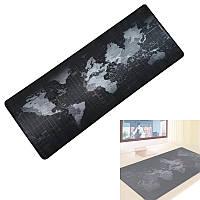 Большой коврик для мышки игровой, игровая поверхность 90х40см Карта Мира