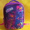"""Школьный ортопедический рюкзак """"черепашка"""" Цветы для девочки, фиолетовый, фото 2"""