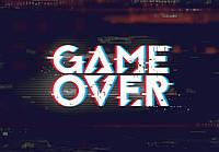 Фотообои флизелиновые 368 x 254 см для подростков Конец игры(Game Over) (13876V8)