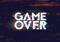 Фотообои флизелиновые 416 x 290 см для подростков Конец игры(Game Over) (13876VEXXXXL)