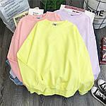 Жіноче худі, турецька двунить, р-р універсальний 42-46 (жовтий), фото 2