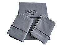 Комплект постельного белья Maison D'or Spring Dark Grey ранфорс 220-200 см серый