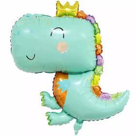 """Кулька 26"""" фігура фольгована """"Динозавр з короною"""" УП шт. Китай"""