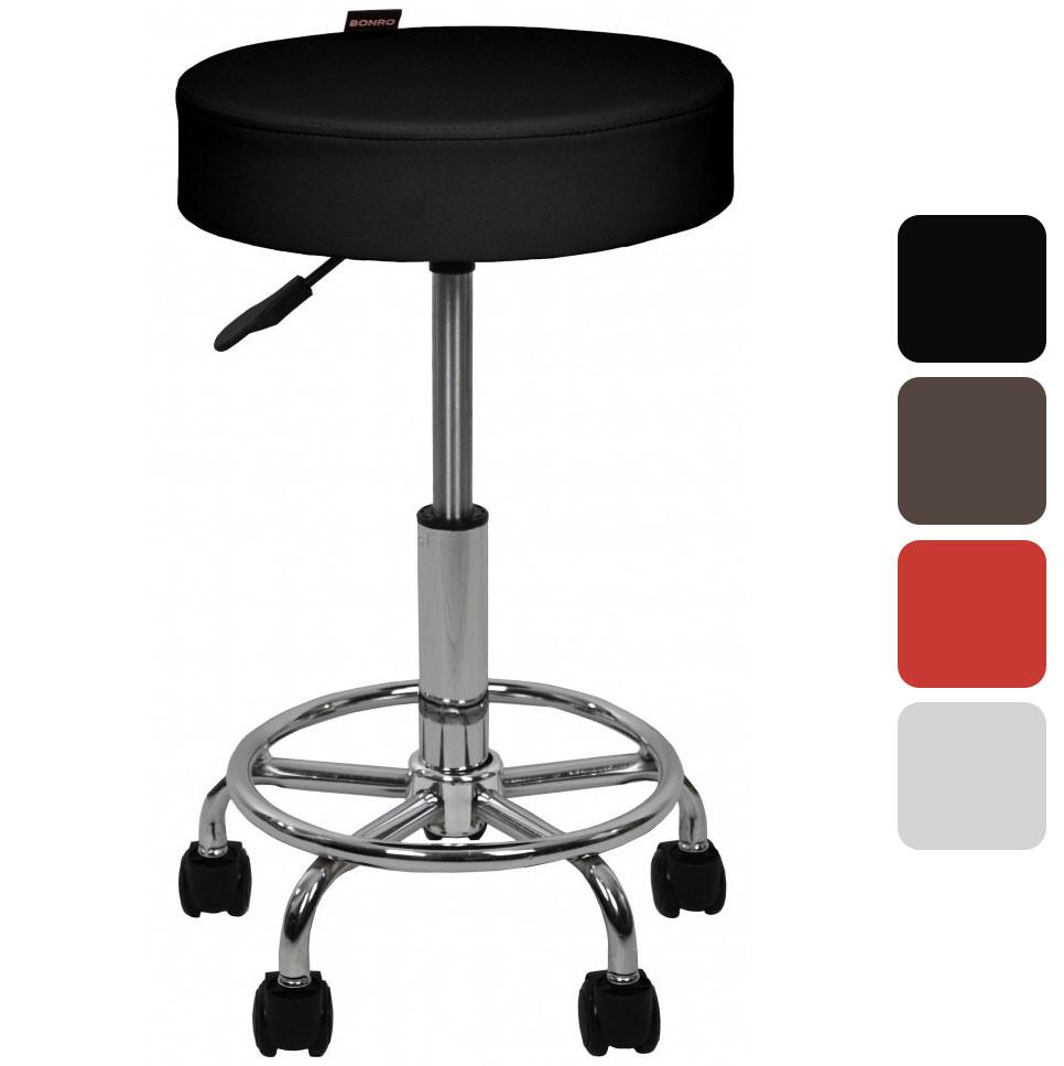 Барний стілець Bonro B-830 регульований крісло для кухні барної стійки табурет на колесах без спинки