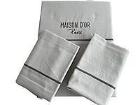Комплект постельного белья Maison D'or Spring Grey ранфорс 220-200 см светло серый