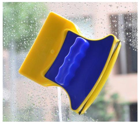 Щетка магнитная для мытья окон двойная Jian Jun Glass Cleaner