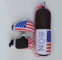 Боксерський набір комплект АМЕРИКА груша рукавички Boxing