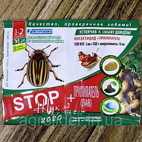 Средство защиты растений «STOP Жук» 3мл + «Прилипатель» 10 мл