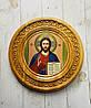 """Дерев'яна тарілка (ікона) """"Ісуса Христа"""""""