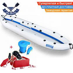 Байдарка надувний Човен ЛБ-380У одномісна Базова Турист для гладкої води