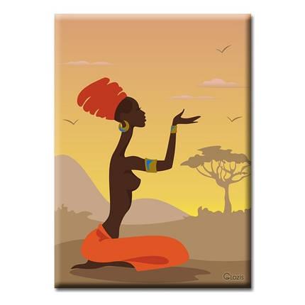 Картины на холсте Glozis Картина Glozis African girl, фото 2