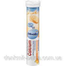 Биологически активные таблетки Кальций для укрепления костей Mivolis Calcium Brausetabletten  20 шт