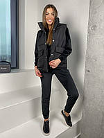 Женская стильная жилетка с накладными карманами на утеплителе силикон (Норма), фото 2