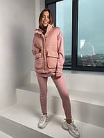 Женская стильная жилетка с накладными карманами на утеплителе силикон (Норма), фото 3