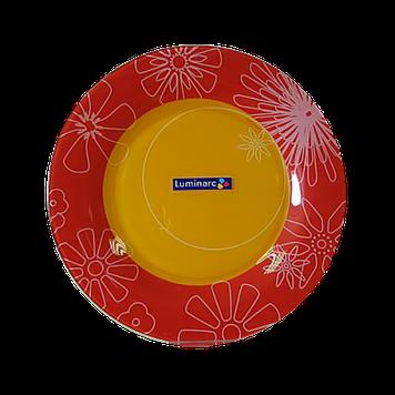 Тарілка обідня Luminarc Graphic Red Flowers 25 см