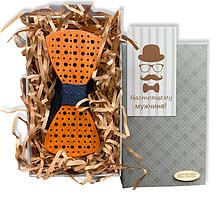 Деревянная бабочка - Галстук в подарочной упаковке 8375