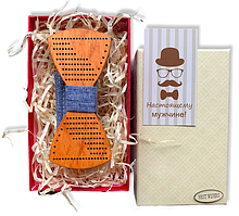 Деревянная бабочка - Галстук в подарочной упаковке 8381