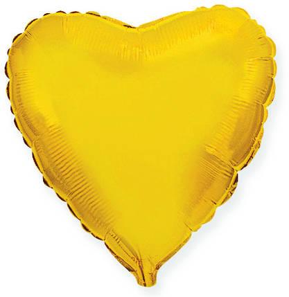 """Сердце 32"""" FLEXMETAL-ФМ Металлик золото (УП), фото 2"""