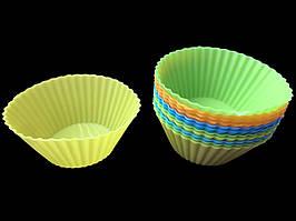 Силиконовая форма для тарталеток маленькая 12 шт (7х4,5х3,6 см)