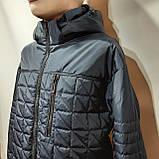 Чоловіча куртка весняна (Великих розмірів) демісезонна класична темно синя, фото 5