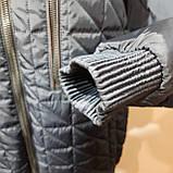 Чоловіча куртка весняна (Великих розмірів) демісезонна класична темно синя, фото 7
