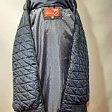 Чоловіча куртка весняна (Великих розмірів) демісезонна класична темно синя, фото 8