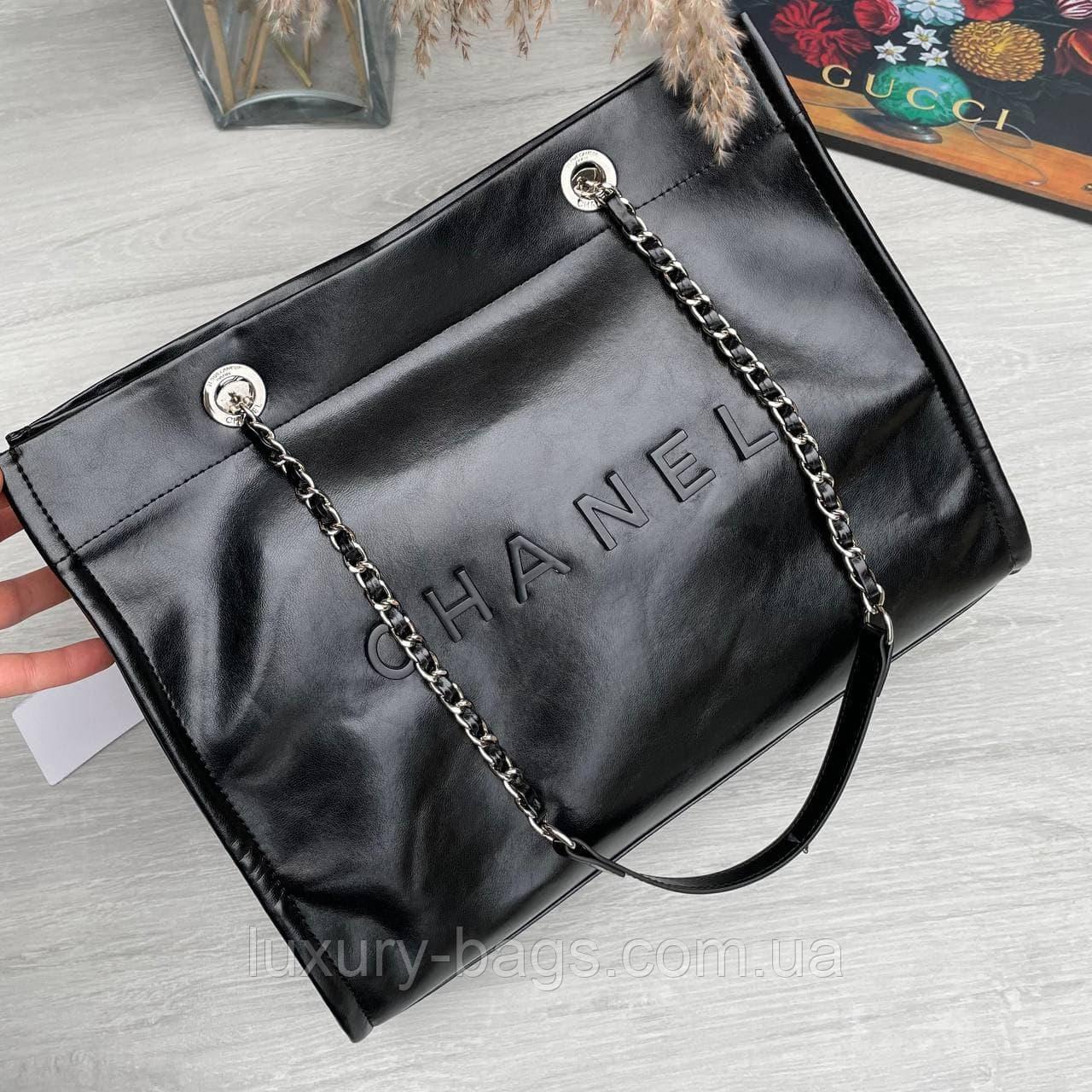 Женская шикарная брендовая сумка черная
