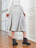 Расклешенная юбка-миди в клетку, фото 5