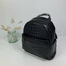 Рюкзак с тиснение под крокодила / натуральная кожа арт. кт-2843 Черный
