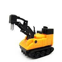 Индуктивная строительная машинка Inductive Car Отбойный молоток Желтый 1000079, КОД: 1892222