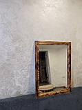 Настінне дзеркало в дерев'яній рамі 720х520 см., фото 3