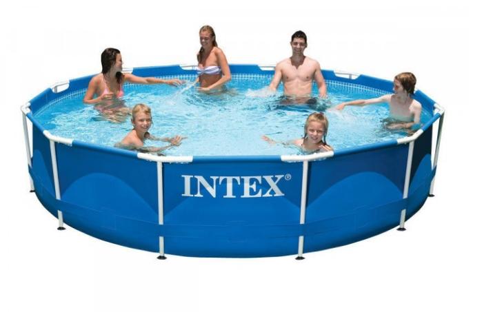 Інтекс 28212, каркассный басейн з металевим каркасом і фільтр-насосом 366см*76см