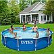 Интекс 28210, каркассный бассейн с металическим каркасом  366см*76см, фото 3