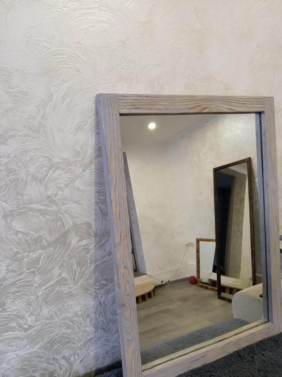 Настінне дзеркало в дерев'яній рамі 720х520 см.