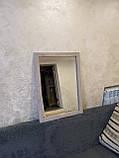 Настінне дзеркало в дерев'яній рамі 720х520 см., фото 2