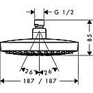 Лейка для верхнего душа Hansgrohe Croma Select E 26524000, фото 2