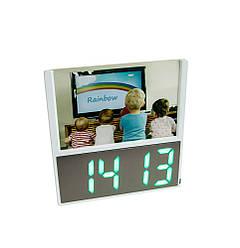 """Електронний настінні годинник DS 6606 з рамкою для фото """"діти"""", led годинник з градусником"""