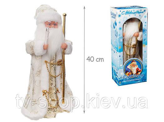 Дед Мороз музыкальный 40 см (свет)
