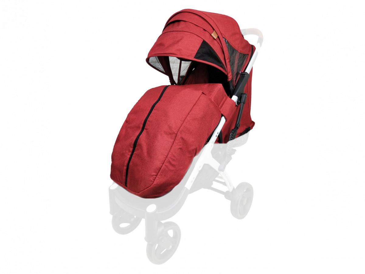 Текстиль для колясок Yoya Plus Красный Водонепроницаемый универсальный моделям Plus Premium, Plus Pro, Plus