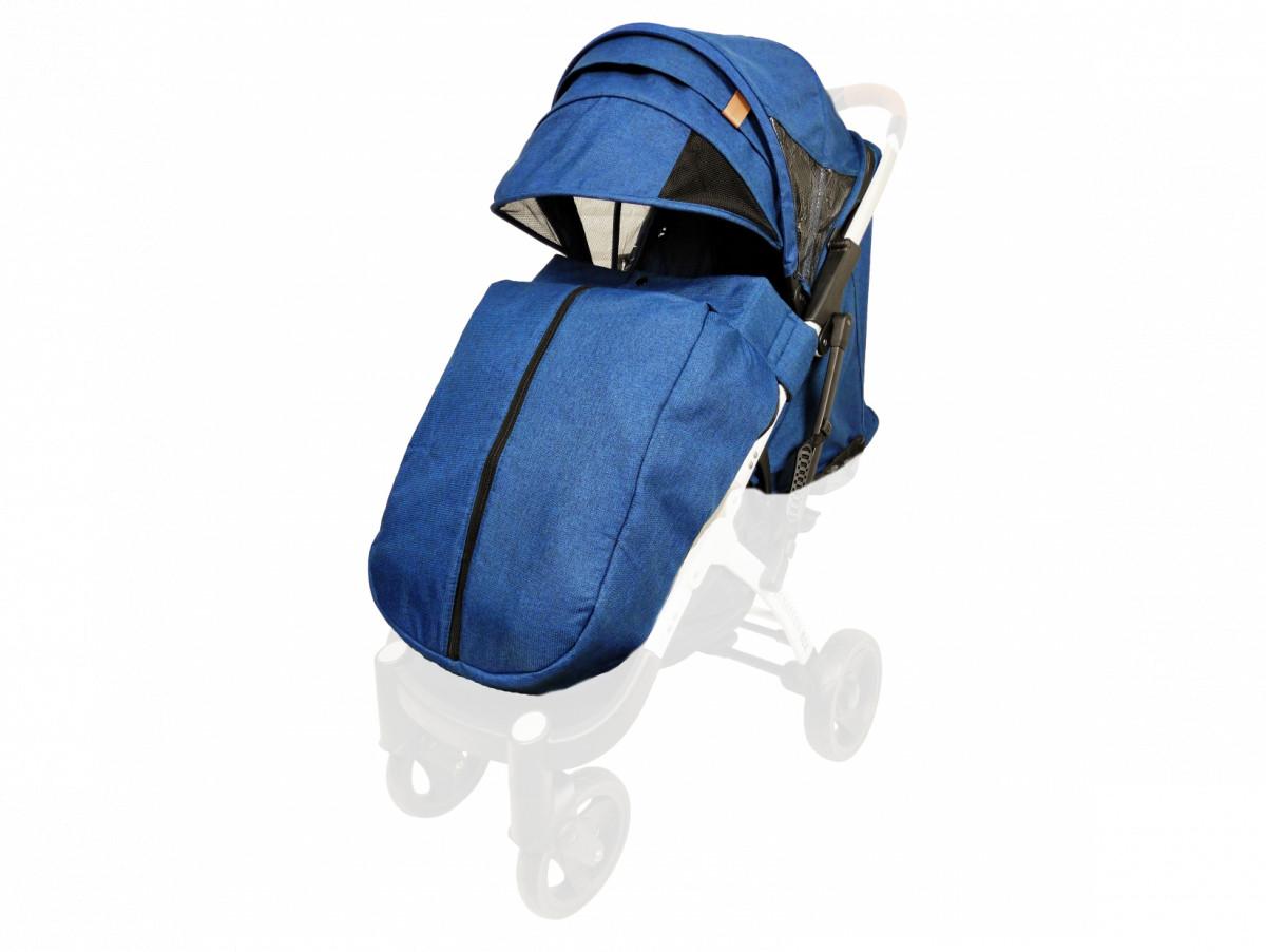 Текстиль для колясок Yoya Plus Синій Водонепроникний універсальний моделей Plus Premium Plus Pro Plus