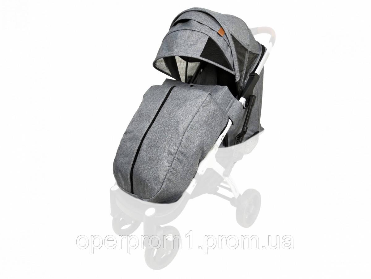Текстиль для колясок Yoya Plus Серый Водонепроницаемый  универсальный моделям Plus Premium, Plus Pro, Plus