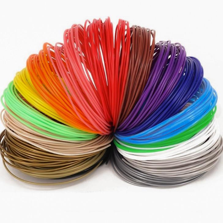 Пластик для 3D ручки PLA HQ 50м (10цветов за 5 метрів) HM227