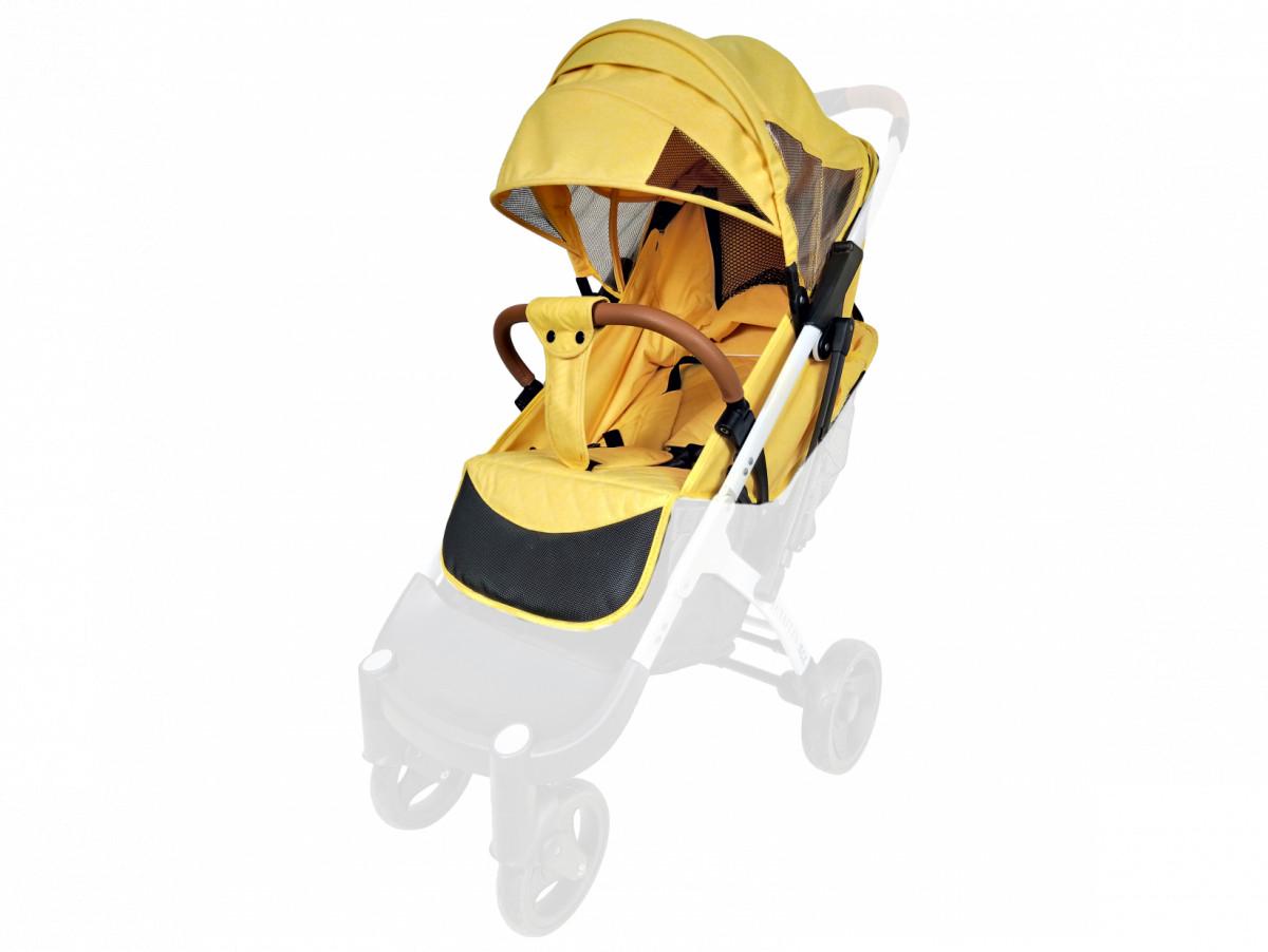 Текстиль для колясок Yoya Plus Желтый Водонепроницаемый универсальный моделям Plus Premium, Plus Pro, Plus